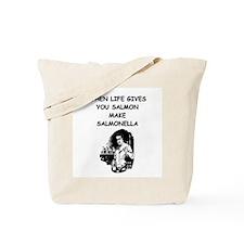 salmonella salmon Tote Bag
