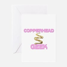Copperhead Geek Greeting Cards (Pk of 10)