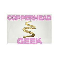 Copperhead Geek Rectangle Magnet