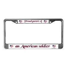 Proud Parent/Soldier License Plate Frame