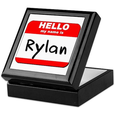Hello my name is Rylan Keepsake Box