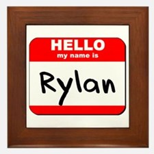 Hello my name is Rylan Framed Tile