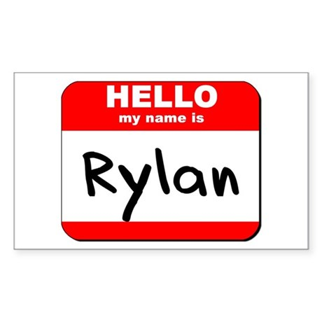 Hello my name is Rylan Rectangle Sticker