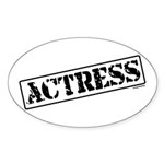 Actress Stamp Oval Sticker (10 pk)