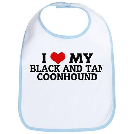 I Love My Black and Tan Coonh Bib