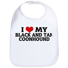 I Love My Black and Tan Coonh Bib
