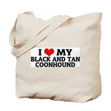I Love My Black and Tan Coonh Tote Bag