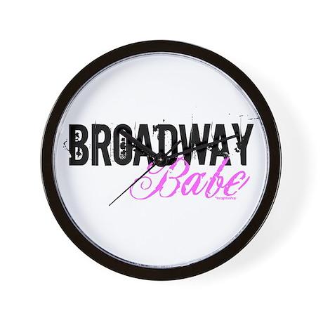 Broadway Babe Wall Clock