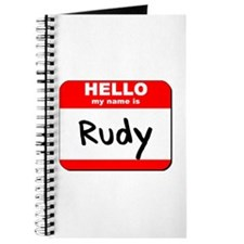 Hello my name is Rudy Journal