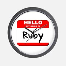 Hello my name is Ruby Wall Clock
