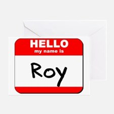 Hello my name is Roy Greeting Card