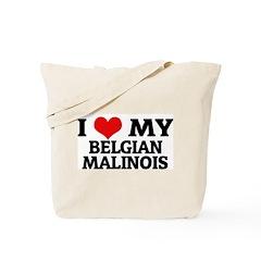 I Love My Belgian Malinois Tote Bag