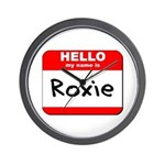 Hello my name is Roxie Wall Clock