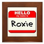 Hello my name is Roxie Framed Tile