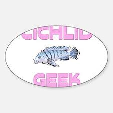 Cichlid Geek Oval Decal