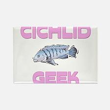 Cichlid Geek Rectangle Magnet