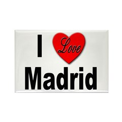 I Love Madrid Rectangle Magnet