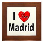 I Love Madrid Framed Tile
