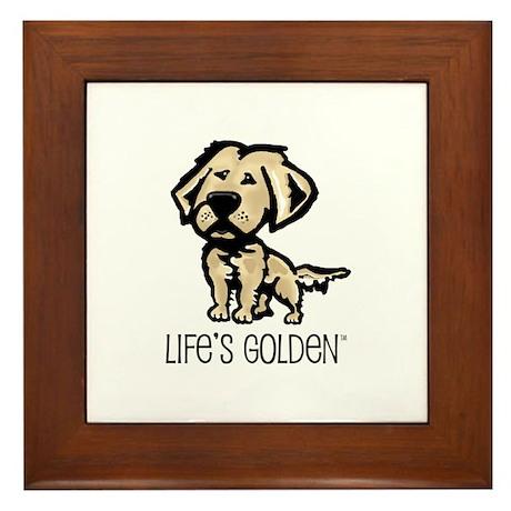 Life's Golden II Framed Tile