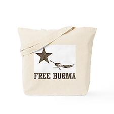 Vintage Free Burma Tote Bag