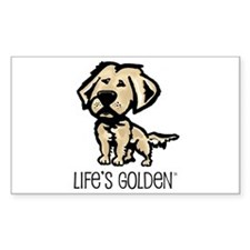Life's Golden II Rectangle Decal