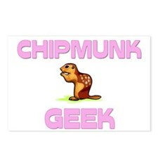 Chipmunk Geek Postcards (Package of 8)