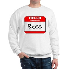Hello my name is Ross Sweatshirt