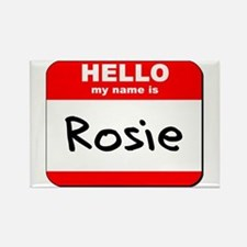 Hello my name is Rosie Rectangle Magnet