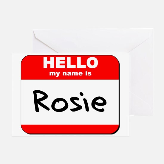Hello my name is Rosie Greeting Card