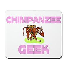 Chimpanzee Geek Mousepad
