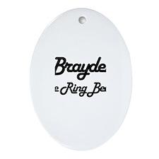 Brayden - The Ring Bearer Oval Ornament