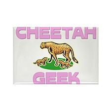Cheetah Geek Rectangle Magnet