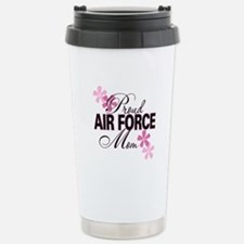 Proud Air Force Mom Stainless Steel Travel Mug
