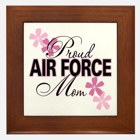 Proud Air Force Mom Framed Tile