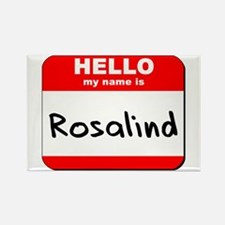 Hello my name is Rosalind Rectangle Magnet