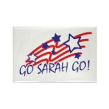 GO SARAH GO! SARAH PALIN Rectangle Magnet