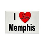 I Love Memphis Rectangle Magnet (10 pack)