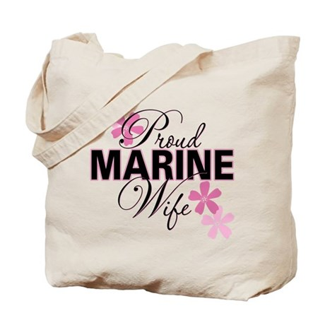 Proud Marine Wife Tote Bag