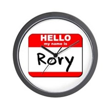 Hello my name is Rory Wall Clock