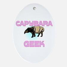 Capybara Geek Oval Ornament