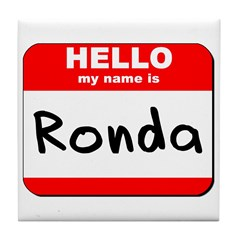 Hello my name is Ronda Tile Coaster