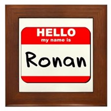 Hello my name is Ronan Framed Tile