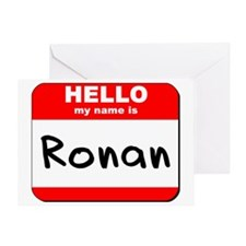Hello my name is Ronan Greeting Card