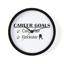 Carpenter Career Goals - Rockstar Wall Clock
