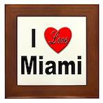 I Love Miami Framed Tile