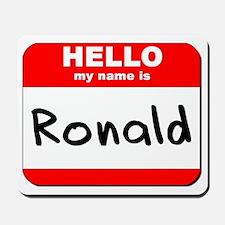 Hello my name is Ronald Mousepad