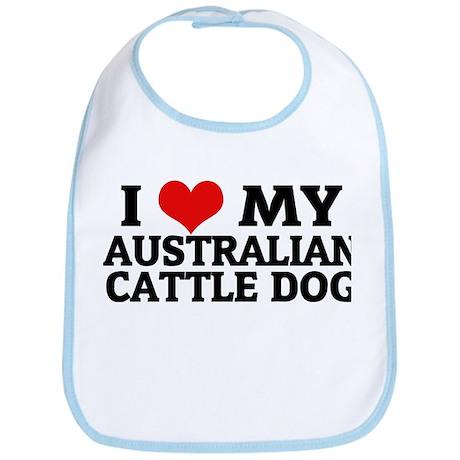 I Love My Australian Cattle D Bib