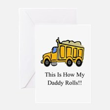 Dump Truck This Is How My Dad Greeting Card
