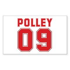 POLLEY 09 Rectangle Sticker 50 pk)