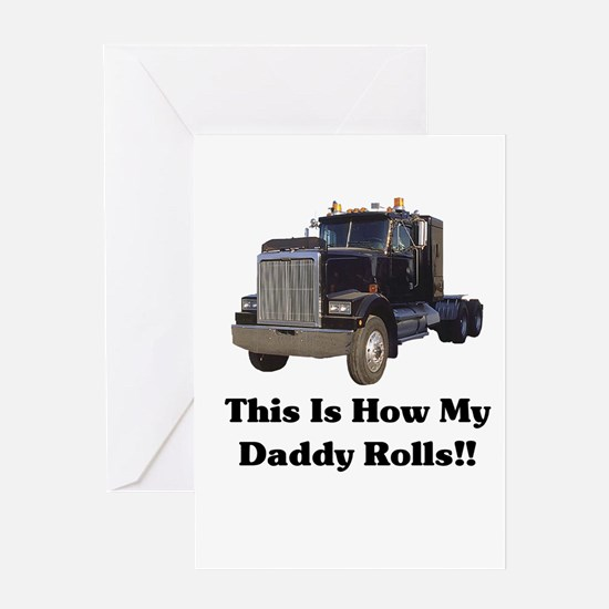 Semi Truck This Is How My Dad Greeting Card